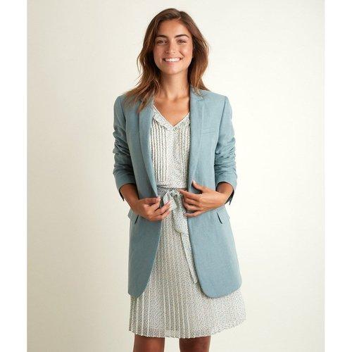 Veste longue en lin et coton TAMARA - Maison 123 - Modalova