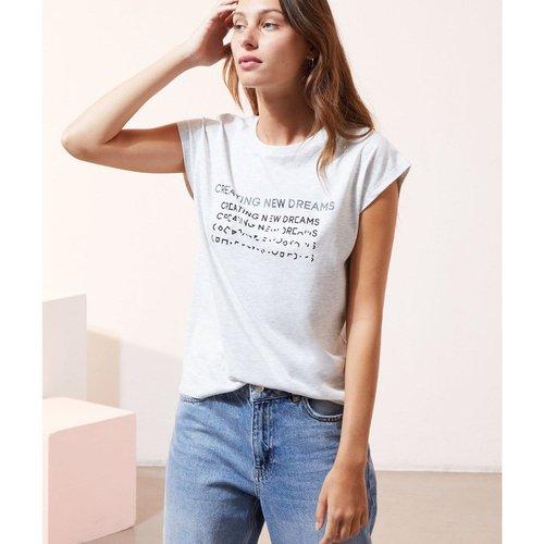T-shirt col rond sans manches MEMORIES - ETAM - Modalova