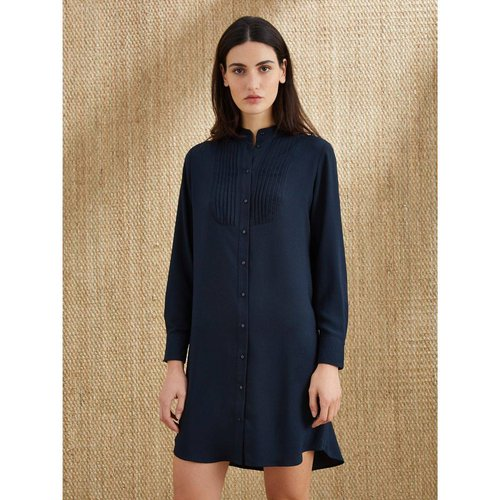 Robe-chemise plastron plissé - CYRILLUS - Modalova