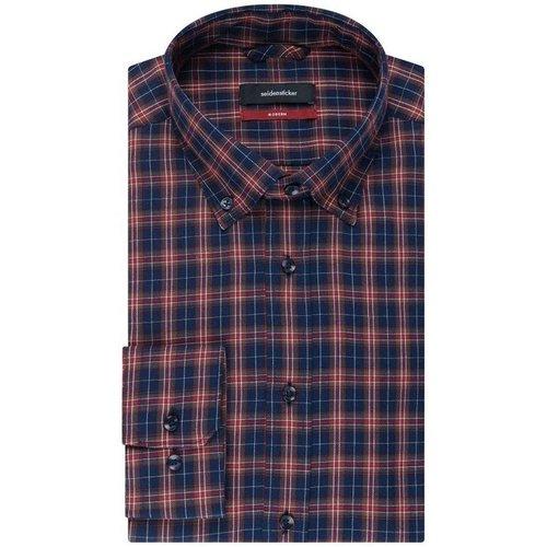 Chemise droite carreaux col boutonné - seidensticker - Modalova