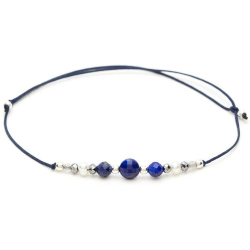Bracelet cordon argent 925 pierres Chance - YAY- YOU ARE YOUNG - Modalova