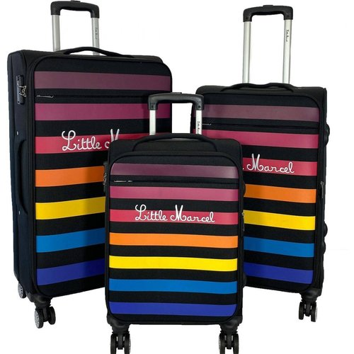 Lot 3 valises soupless abs - LITTLE MARCEL - Modalova