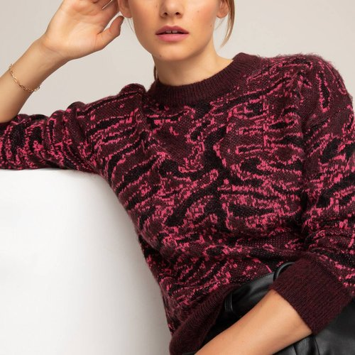 Pull col rond en grosse maille jacquard - LA REDOUTE COLLECTIONS - Modalova