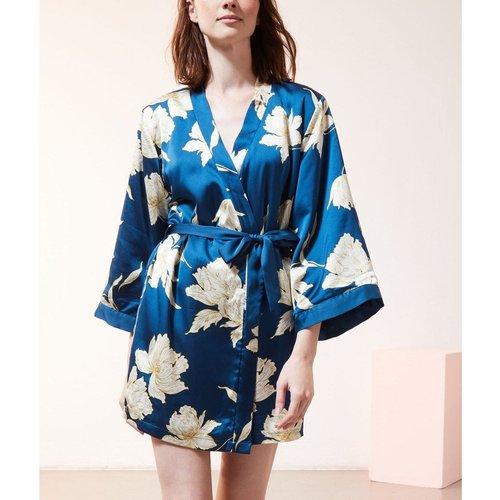 Kimono satiné doublé polaire FIT® - ETAM - Modalova