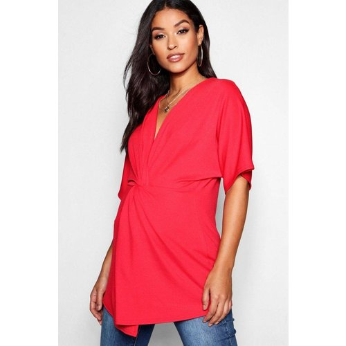 Chemise de grossesse col montant manches courtes - BOOHOO MATERNITY - Modalova