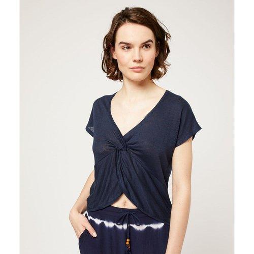T-shirt de pyjama manches courtes en lin NAHUDA - ETAM - Modalova