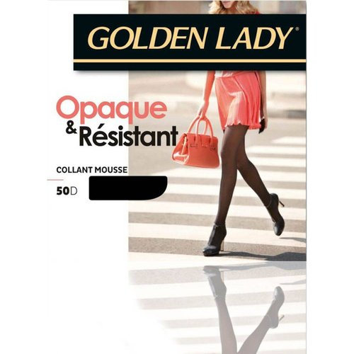 Collant mousse opaque resistant 50D - GOLDEN LADY - Modalova