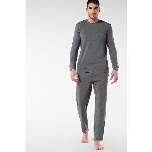 Pyjama long en coton épais - INTIMISSIMI - Modalova