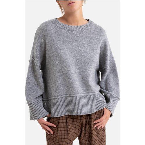 Pull large col rond en maille de laine mélangée - Harris wilson - Modalova