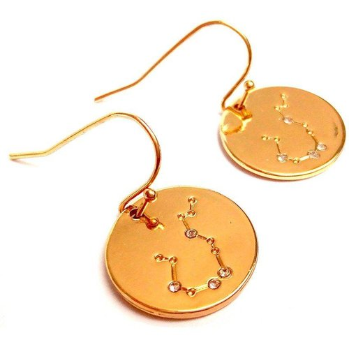 Boucles médailles ETOILES STRASS - JUL&FIL - Modalova