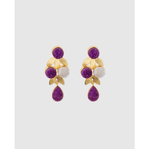 Boucles d'oreilles longues pierres - FORMULA JOVEN - Modalova