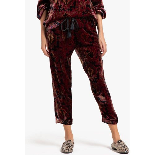 Pantalon en velours imprimé ABBAS - MES DEMOISELLES - Modalova