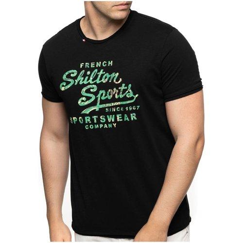 T-shirt col rond manches courtes FLOWER - SHILTON - Modalova