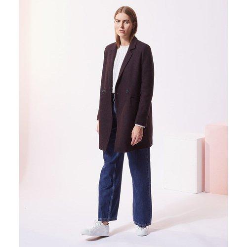Manteau droit en laine mélangée RAISIN - ETAM - Modalova
