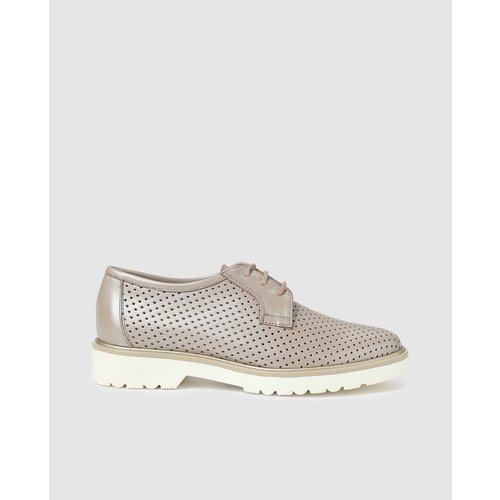 Chaussures à lacets avec motif perforé - ZENDRA - Modalova
