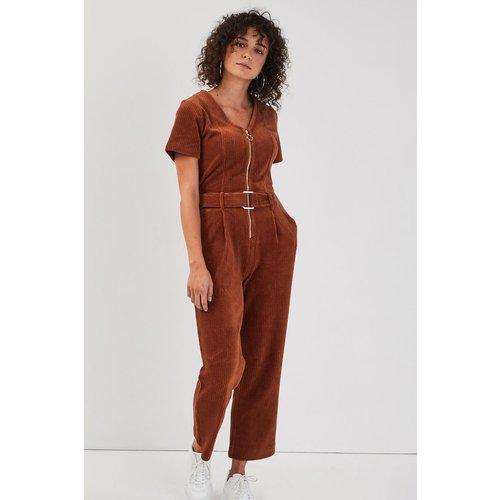 Combinaison pantalon velours - CACHE-CACHE - Modalova