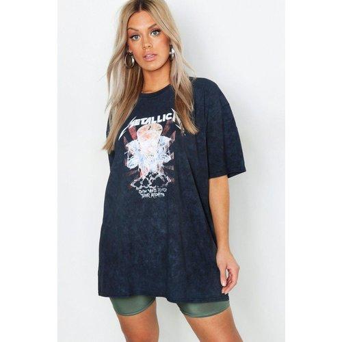 Tee-shirt col rond manches courtes - BOOHOO CURVE - Modalova