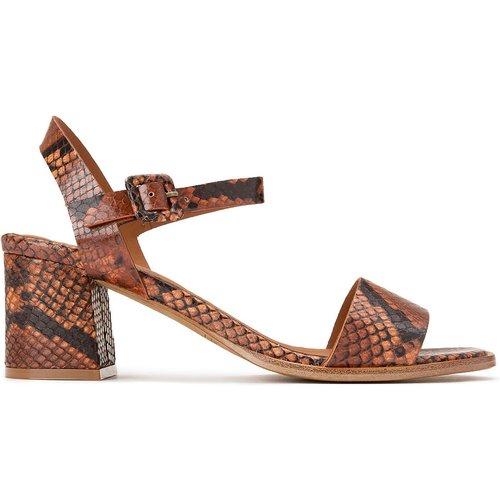 Sandales à talon en cuir motif python DIANE - ANTHOLOGY PARIS - Modalova