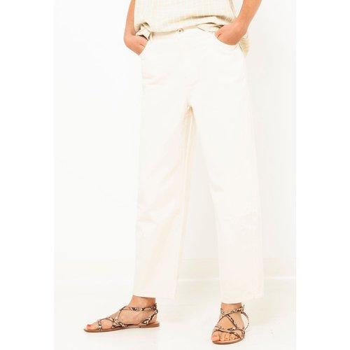 Pantalon droit coton - CAMAIEU - Modalova