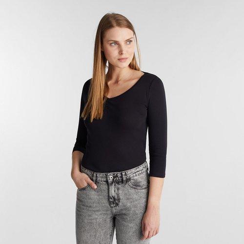 T-shirt encolure v manches 3/4 - Esprit - Modalova