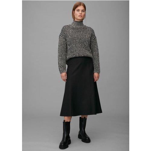 Jupe mi-longue en laine vierge mélangée - Marc O'Polo - Modalova
