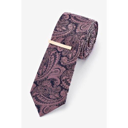 Cravate imprimé cachemire et pince à cravate - Next - Modalova