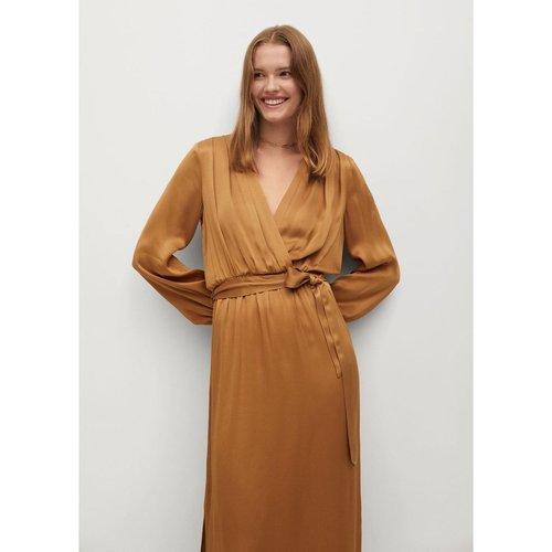 Robe cache-coeur satinée - Mango - Modalova