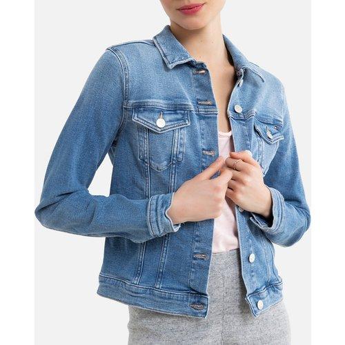 Veste en jean courte, coupe cintrée - Tommy Hilfiger - Modalova