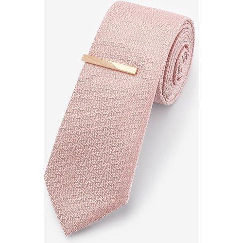 Cravate texturée avec pince à cravate - Next - Modalova