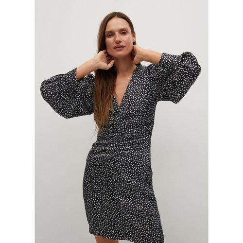 Robe drapée imprimée - Mango - Modalova