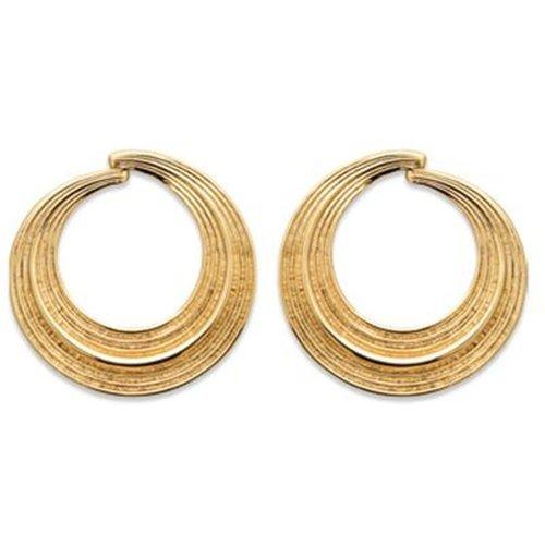 Boucles d'oreilles fantaisie striées ROMANE - BIJOUX PRIVES DISCOVERY - Modalova