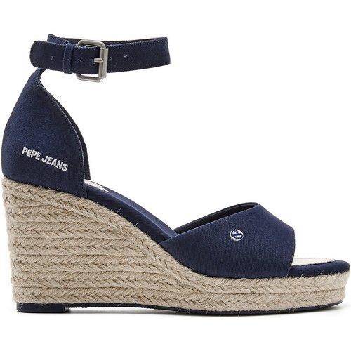 Sandales en coton talon compensé - Pepe Jeans - Modalova