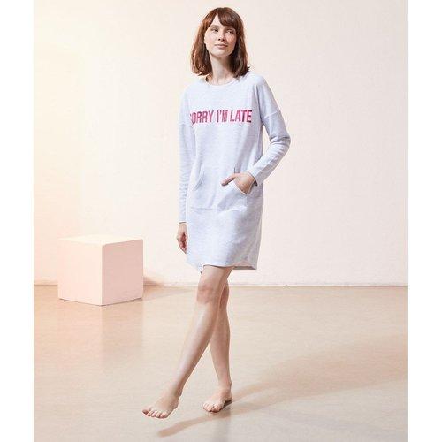 Chemise de nuit à message 'sorry i'm late' FOLIE - ETAM - Modalova
