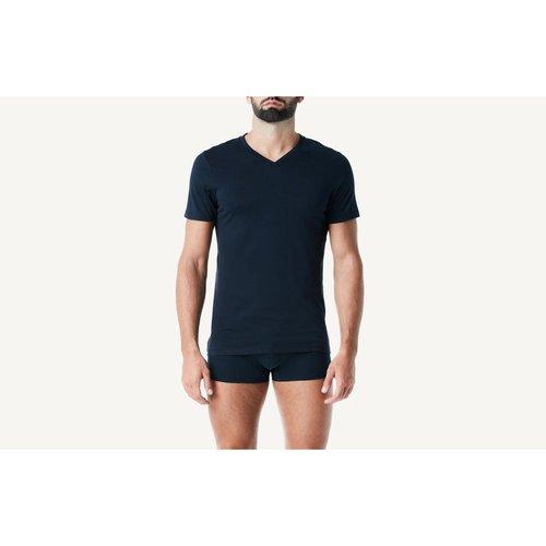 T-Shirt à manches courtes et col en v en coton supima® - INTIMISSIMI - Modalova