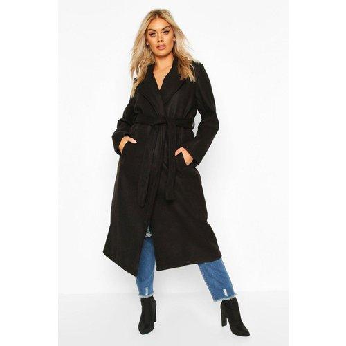 Manteau mi-long col châle - BOOHOO CURVE - Modalova