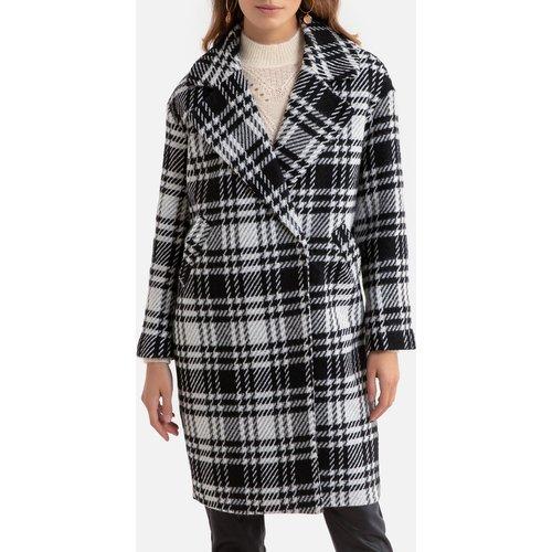 Manteau long à carreaux, coupe large - Only - Modalova