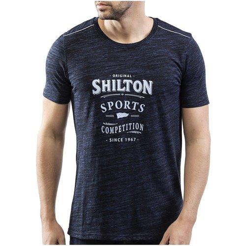 T-shirt col rond original en coton - SHILTON - Modalova