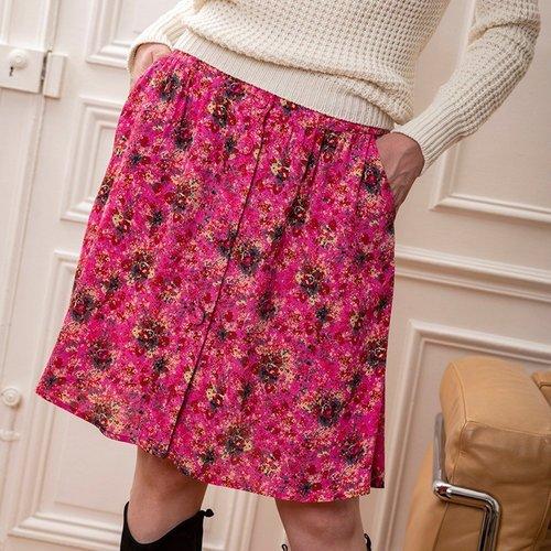Jupe ample imprimé floral - CHEMINS BLANCS - Modalova