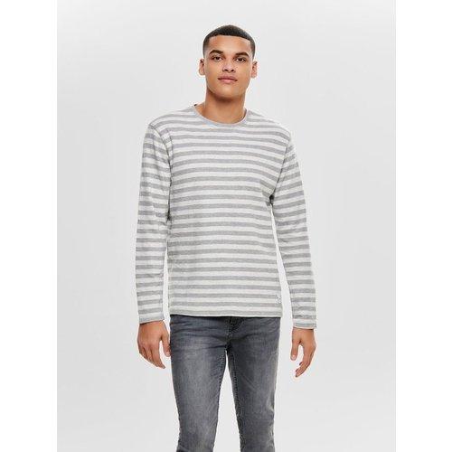 Sweat-shirt Striped - ONLY ET SONS - Modalova