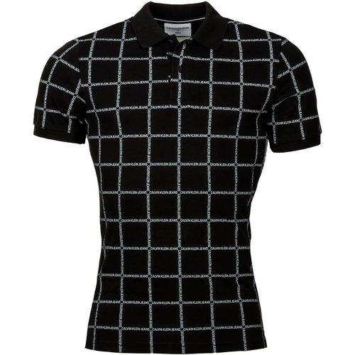 Polo coton Grid - Calvin Klein Jeans - Modalova