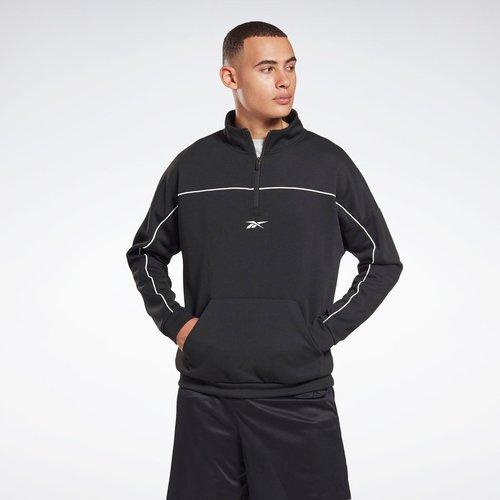 Sweat avec zip 1/4 à double maille Workout Ready - REEBOK SPORT - Modalova