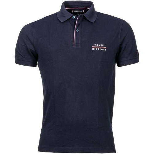 Polo manches courtes coton Logo Embroidery - Tommy Hilfiger - Modalova