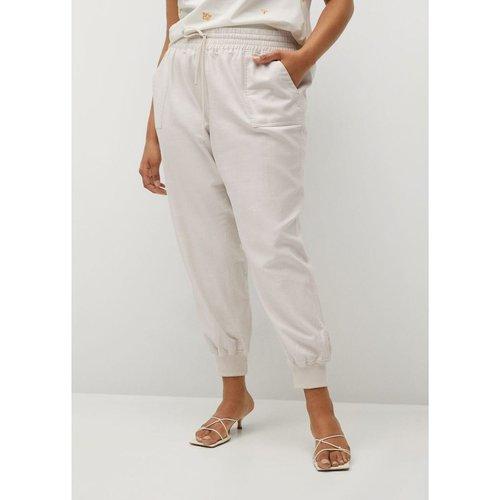 Pantalon baggy coton - Violeta by Mango - Modalova