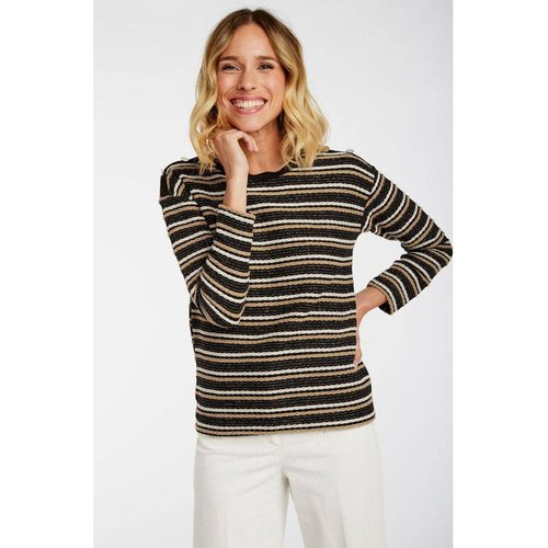 Sweat rayé tricotage fantaisie - Naf Naf - Modalova