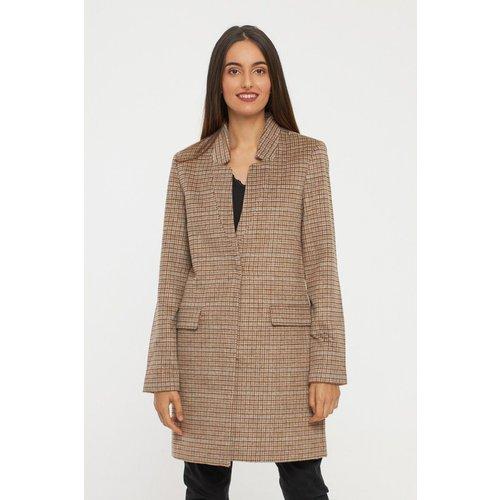 Manteau à carreaux mi-long en laine - BEST MOUNTAIN - Modalova