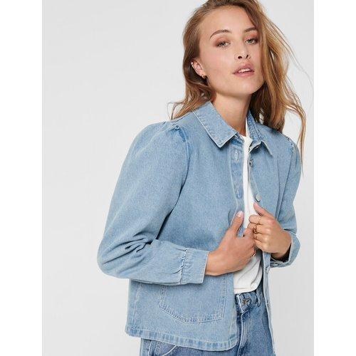 Veste en jean boutonnée, col chemise - Only - Modalova