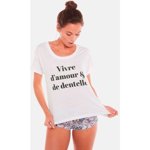 T-shirt VIVRE D'AMOUR - POMM'POIRE - Modalova