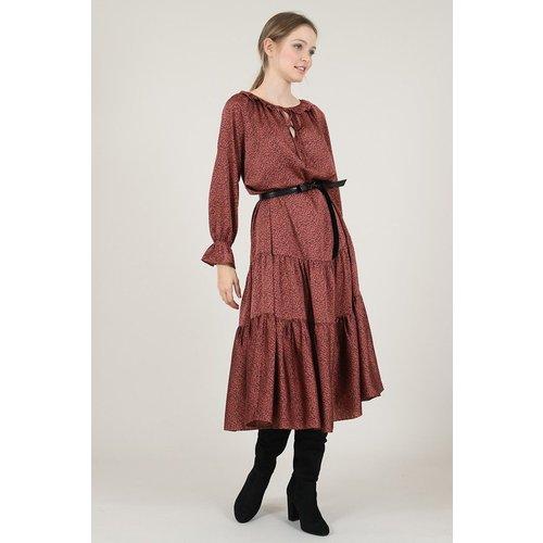 Robe longue satinée à pois - MOLLY BRACKEN - Modalova