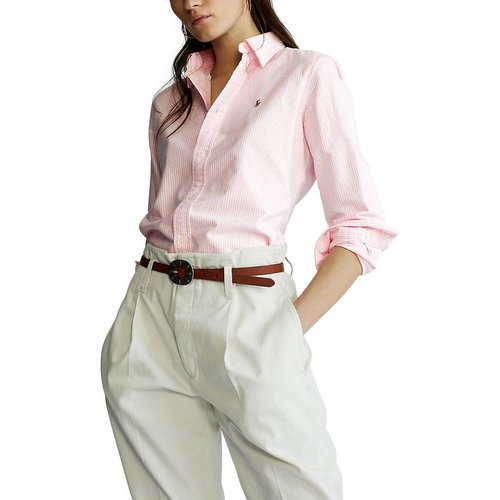 Chemise rayée Oxford à manches longues - Polo Ralph Lauren - Modalova