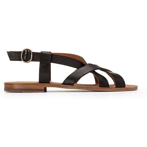 Sandales en cuir talon plat - ANTHOLOGY PARIS - Modalova